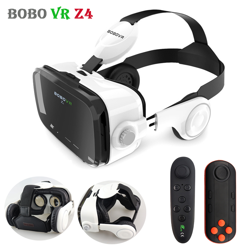 Original BOBOVR Z4 Leather 3D Cardboard Helmet Virtual Reality VR Glasses Headset Stereo BOBO VR for 4-6' Mobile Phone(China)