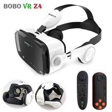 Original bobovr z4 couro 3d papelão capacete realidade virtual vr óculos fone de ouvido estéreo bobo vr para 4 6 mobile telefone móvel