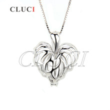 CLUCI Maple leaf shape necklace charms 925 sterling silver plant locket cage pendant Canada love jewelry gift, free shipping(China)
