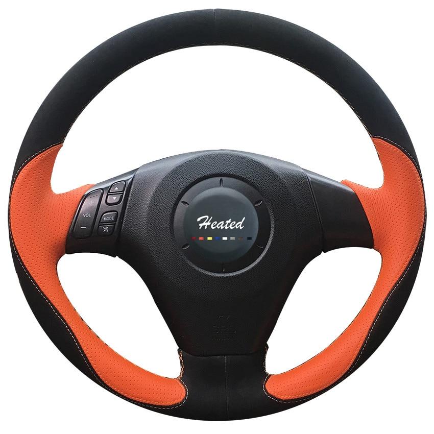 Braid on the Steering Wheel Cover for 2004-2009 Mazda 3, 2006-2010 Mazda 5, 2003-2008 Mazda 6, Mazda MPV capa para volante комплект дефлекторов vinguru накладные скотч для mazda 3 i bk 2003 2008 хэтчбек 4 шт