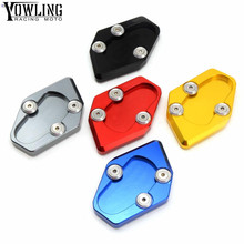 Tmax 530 accessories Motorcycle Kickstand Multicolor CNC Aluminum Side Stand Plate Enlarge For Yamaha XP 2012-2016