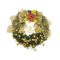 Gran Hoja de Arce de Oro Del Bowknot Guirnalda Colgando Placa de Puerta Ventana de la Decoración de Navidad Adornos de Navidad Regalo de La Decoración Festiva