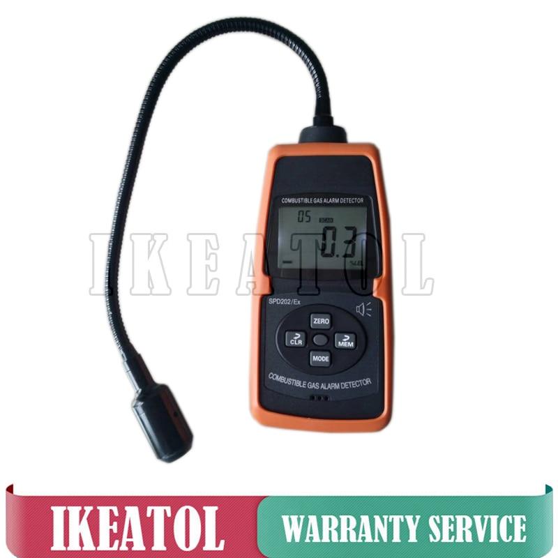 SPD202/EX Flammable Gas Leak Detector Digital Combustible Gas Alarm Meter Acousto-optic alarming 0-100%LEL 50-50000ppm