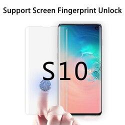 3D UV Nano płynny preparat chroniący ekran dla Galaxy S10 Plus szkło hartowane pełny klej dla Galaxy S10 ekran linii papilarnych odblokować