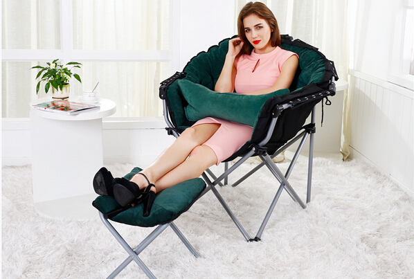 Household student lounge chair, folding chair. Lazy sofa