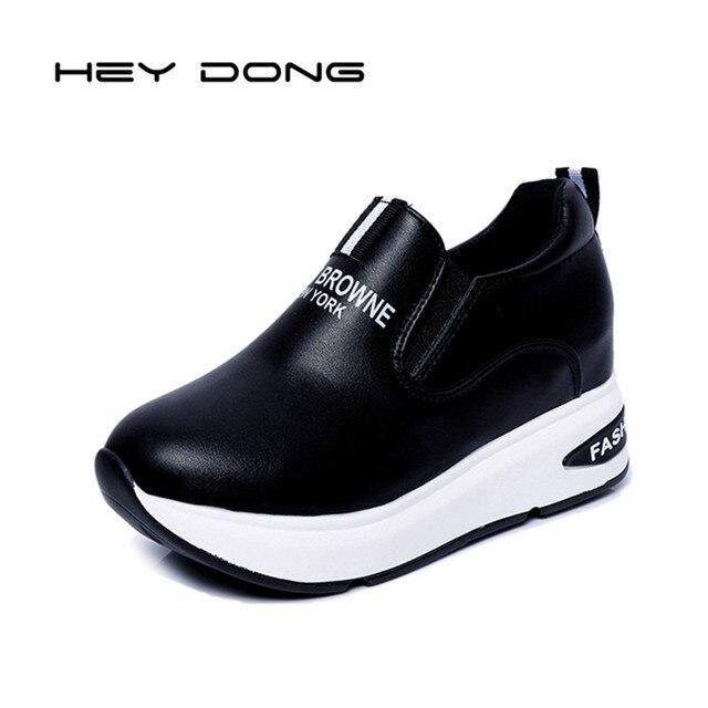 Высота Увеличение Обувь Женщина Клинья Платформы Мокасины Тенис Feminino Женщин Slipony Повседневная Обувь 2017 Botas Mujer Sapato Feminino