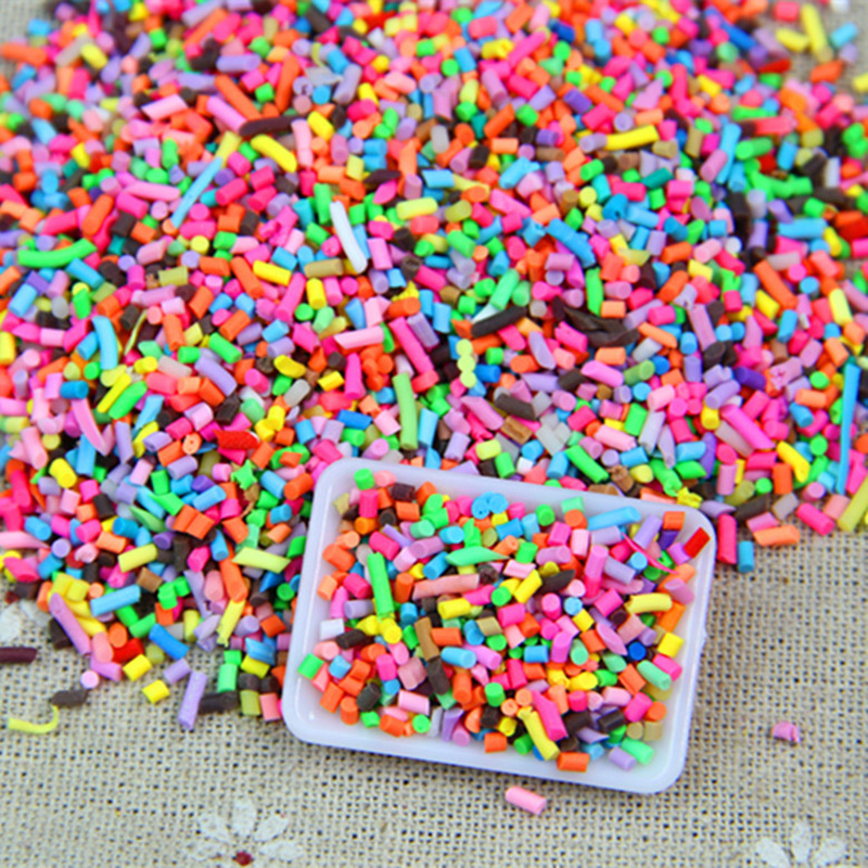 DIY Polymer Clay Fake Candy Sweets Sugar Sprinkle Decorations For Fake Cake Dessert Simulation Food Dollhouse 100g in Cake Decorating Supplies from Home Garden