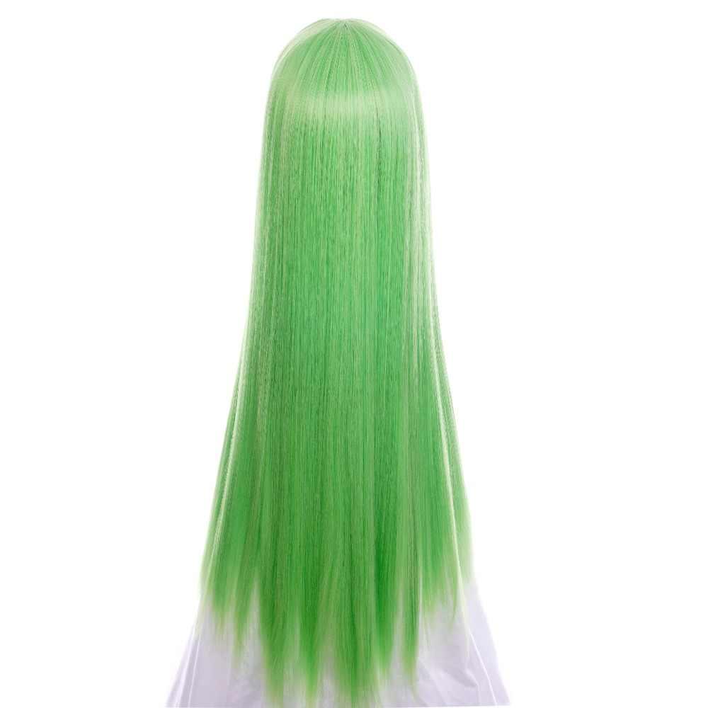 Ccutoo Code Geass C.C CC cesarzowej 100 cm zielone długie proste włosy syntetyczne peruka do cosplay włókno termoodporne