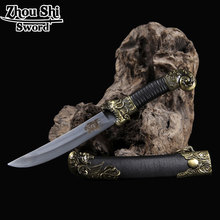 Decor Knife Chinese Characteristics Dragon Knife unique Tsuba Stainless steel Blade  Home Decorations   Products Exquisite gift