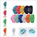 Excelente Qualidade Top Marca de Relógios de Genebra Mulheres Candy-colored 12 Cores Geléia de Silicone Pulseira de Esportes de Lazer Assistir relojes mujer