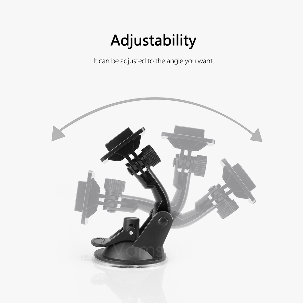 Vamson for Go Pro 8 9 Accessories 7cm Car Mount Windshield Suction Cup for Gopro Hero 9 8 7 6 5 4 for SJCAM for Yi 4K VP520 2