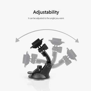 Image 2 - Vamson for Go Pro 8 9 Accessories 7cm Car Mount Windshield Suction Cup for Gopro Hero 9 8 7 6 5 4 for SJCAM for Yi 4K VP520