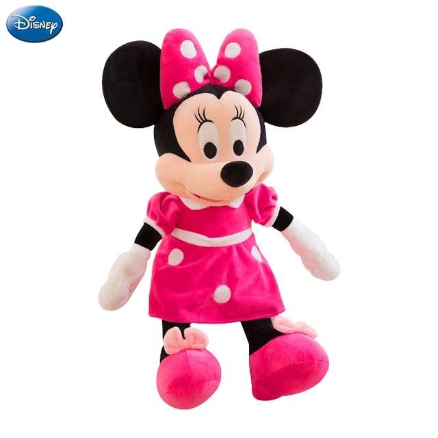 40 cm Disney Mickey Mouse Minnie Bicho de pelúcia Brinquedos de Pelúcia Kawaii Boneca de Presente de Aniversário de Natal Para Crianças Menina Miúdo