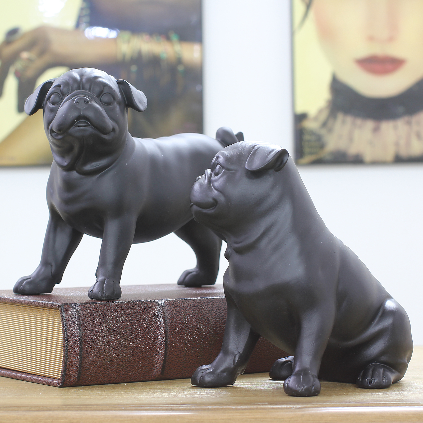 Black Sanddog Ornaments Cute Dog Ornaments Living Room Study Decorations Book Shelves Exquisite Gifts - 2