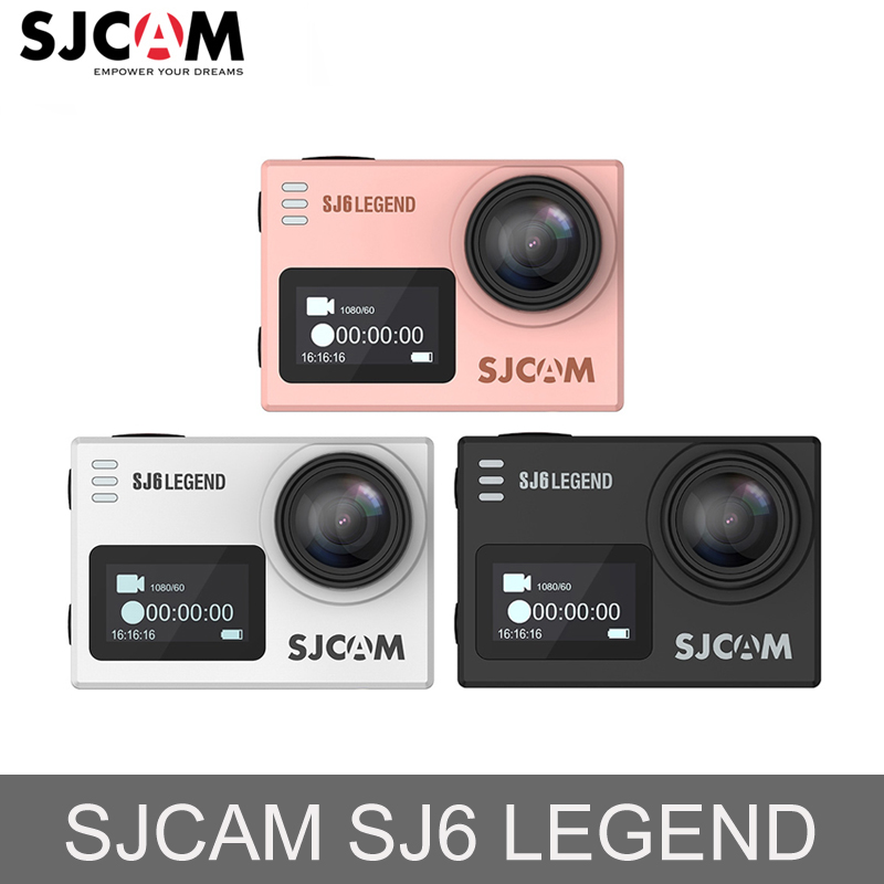 2018 Original SJCAM SJ6 LEGEND 4K 16MP Action Kameran Notavek96660 WiFi Vattentät Sport Action Kameror Dual HD Screen Mini DV