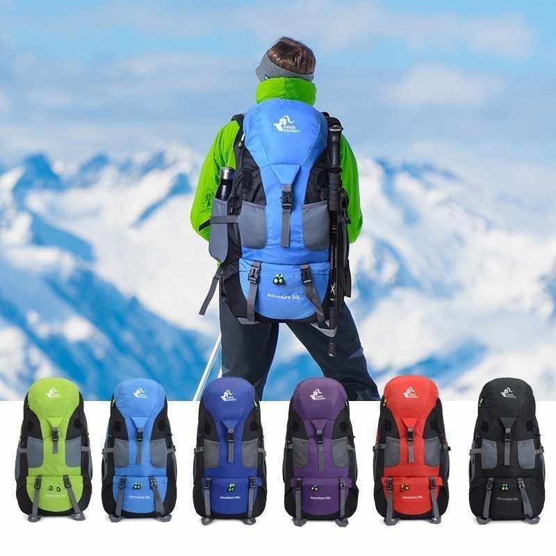 50L Campeggio Zaino Trekking Zaino Impermeabile Trekking Bag Uomo/Donna Outdoor Viaggi Zaino Ciclismo Daypacks Alpinismo Zaini