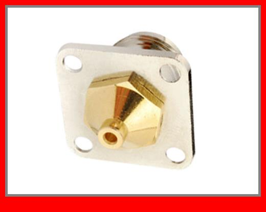 10 pcs  RF Connector N Square Flange Jack Solder for Semi-rigid cable .086',RG405 10pcs 100pcs rf coax connector n kfd water proof n connector mount on plange
