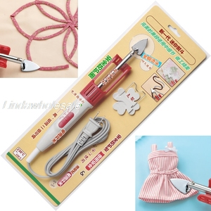 Cabeça quente de cobre caneta tipo mini ferro diy ferramenta de costura, acessórios de costura