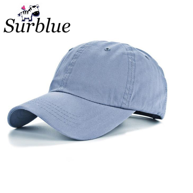 Surblue Solid Baseball Cap Wholesale Trucker Snapback Hat Fitted Cheap Cap  Classic Sunscreen Golf Hats For Lady Men Working Caps 6951cb5047c