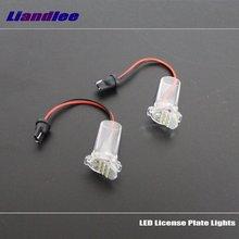 цена на Liandlee For Toyota Wish (AE20) 2009~2016 / LED Car License Plate Light / Number Frame Lamp / High Quality LED Lights