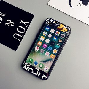 Image 5 - Luffy For iPhone 7 plus embossed case +front tempered glass   film for iPhone 7 8 6 6s plus phone cases soft protect fundas