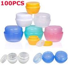 100 шт. x Φ 10 г 20 г 30 г небольшие контейнеры для образцов банки с крышками корпуса для крема лосьона косметических макияжных масел бальзамом для губ пигменты