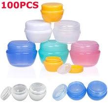 Tarros contenedores para crema, loción cosmética, aceites de maquillaje, bálsamos labiales, pigmentos, 100 Uds. x 5g, 10g, 20g, 30g