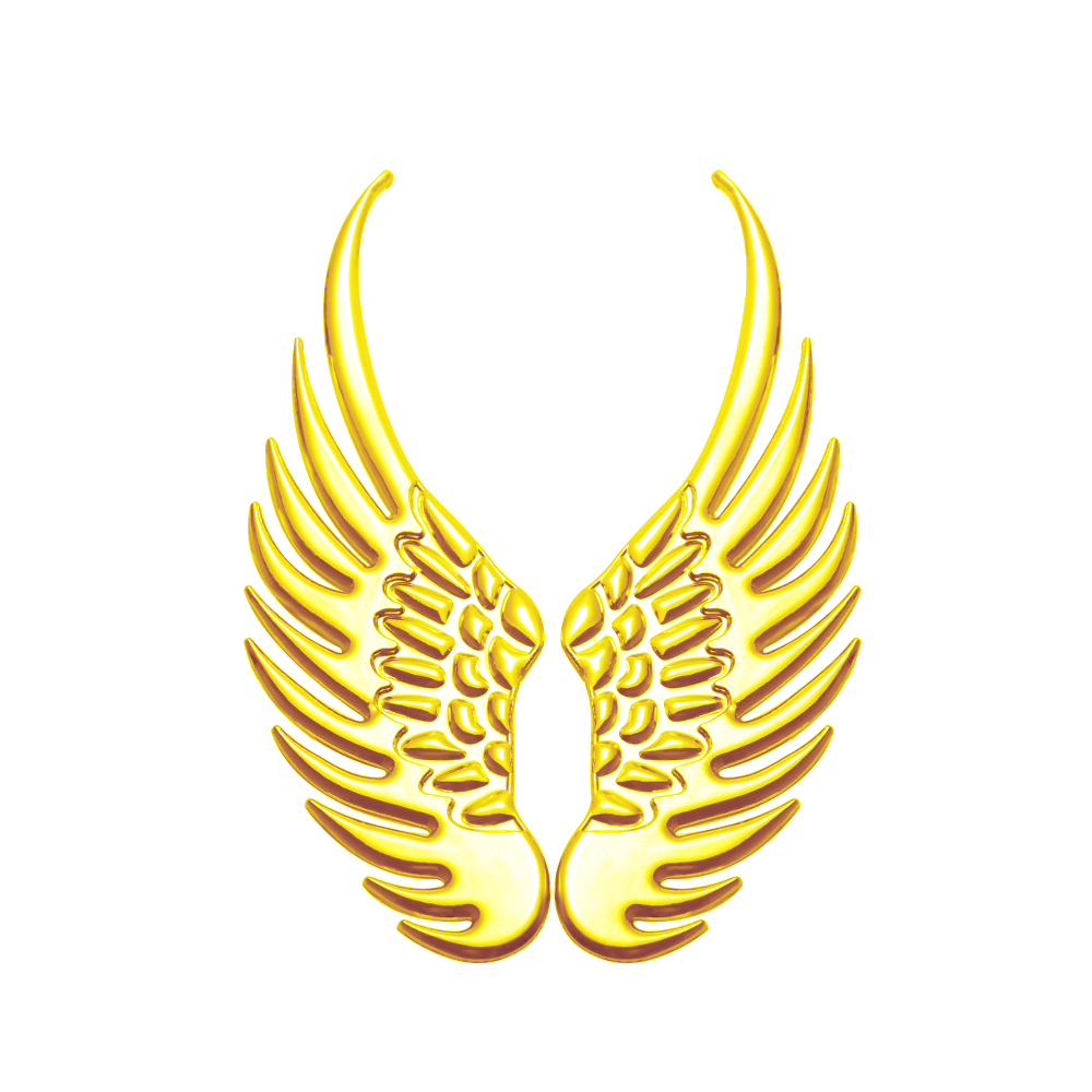 1Pair 3D Metal Angels Wings Car Decoration Emblem Badge Decal Logo Sticker Auto Motorcycle Accessories Car Styling emblem