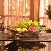 European style retro fruit dish luxury living room table decoration housewarming gift fruit plate decoration