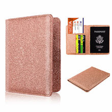 BISI GORO Travel Passport Holder Cover Luxury Passport Cover For Women Men Leather Passport Wallet Ticket Hold Credit Card(China)