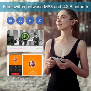 Image 4 - Tayogo przewodnictwa kostnego HIFI wodoodporny MP3 słuchawki z Bluetooth radio fm krokomierz pod wodą USB MP3 odtwarzacz muzyczny do pływania Sport nurkowanie
