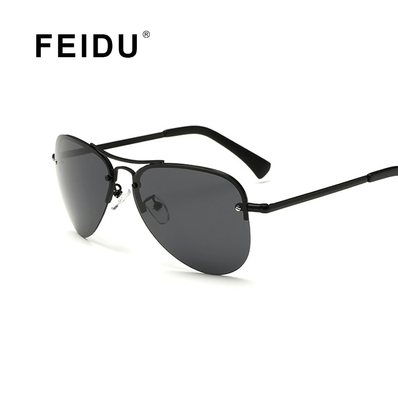 FEIDU 2016 New Polarized Pilot Sunglasses Men Brand Coating Mirror Sun glasses For Men Outdoor Driving Gafas Oculos With Case