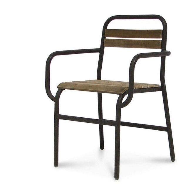 européenne moderne loft de style rétro vintage chaises en fer ... - Chaise Fer Et Bois
