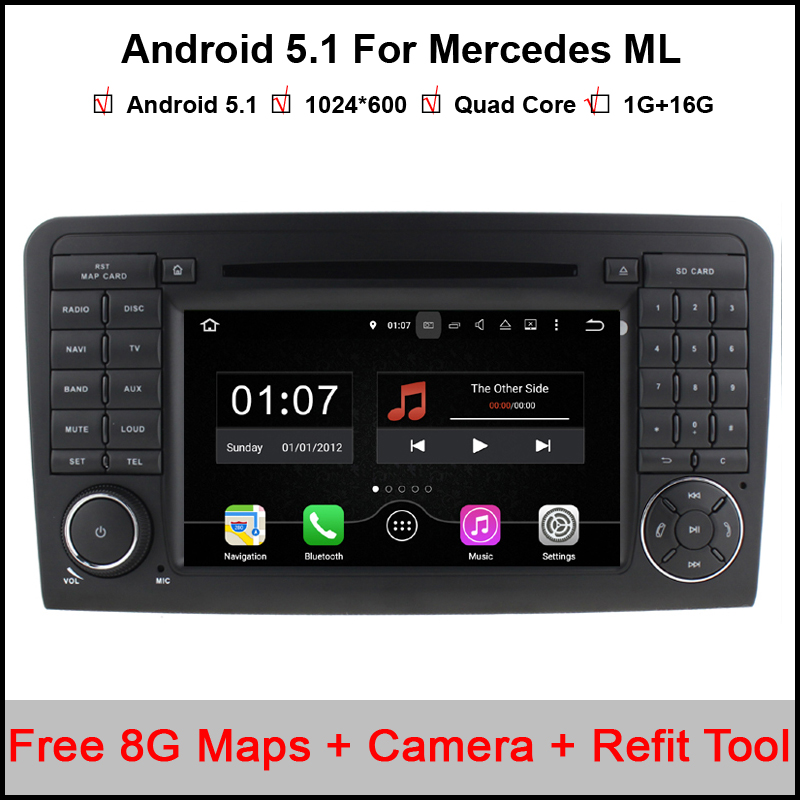 1024 600 font b Android b font 5 1 Car DVD Radio Player GPS for Mercedes