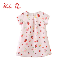 Toddler Girl Floral Dress Ladybird Pattern Print Little Girl Fashion A-line Summer Dress Children Spring Fall Princess Clothing toddler girl floral dress ladybird pattern print little girl fashion a line summer dress children spring fall princess clothing
