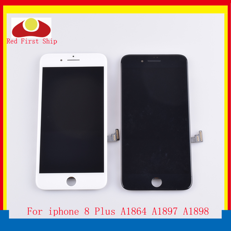 10 pçs/lote Para iphone 8 Plus monitor de Tela de LCD Display Touch Digitador Da Tela de LCD Completo Para iphone 8 Mais LCD OEM Original