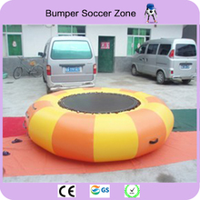 Free Shippin Diameter 2m 0.9mm PVC Inflatable Water Trampoline Water Jumping Bed Jumping Trampoline