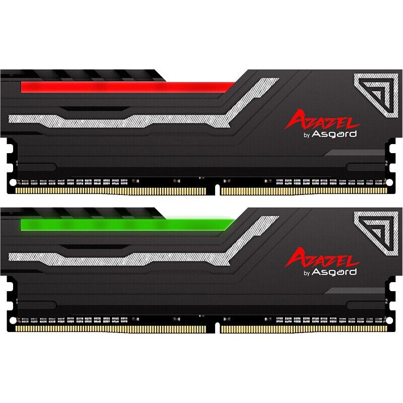Asgard AZAZEL série RGB RAM 8GB 2X8GB 16GB DDR4 3200MHz 1.35V RAM pour les jeux de bureau avec des performances élevées à grande vitesse