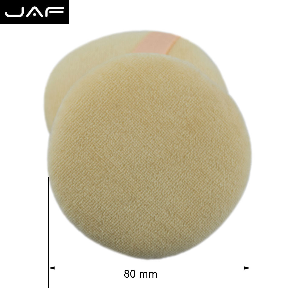 Retail JAF Face Sponge Makeup Cosmetic Powder Puff Large Cotton Fabric With Ribbon Belt - FPCM