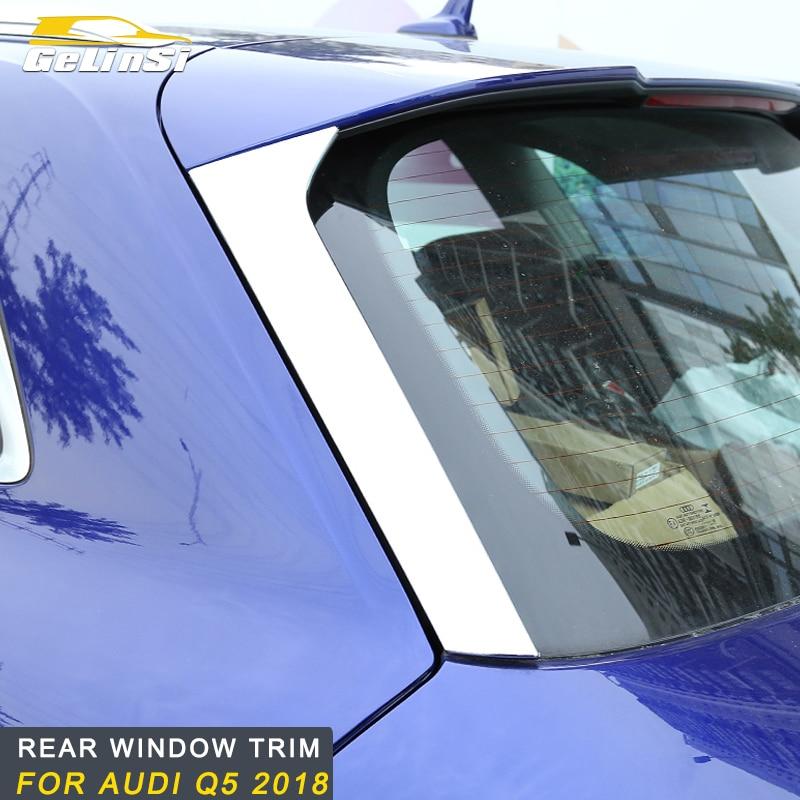 Gelinsi for Audi Q5 2018 car auto rear window trim frame trim cover sticker accessories