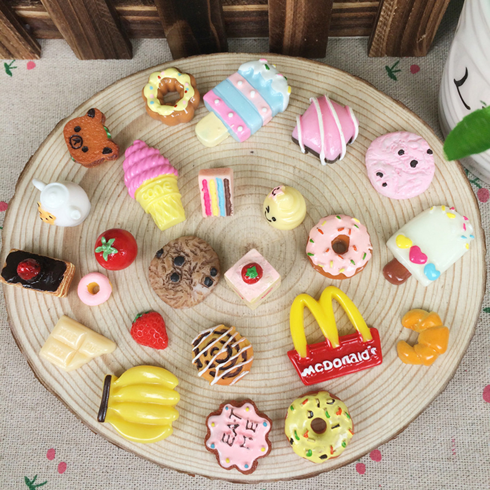 100% Quality 5pc 18*25mm Lovely Sweet Candy Assorted Glitter Hand Paint Resin Cabochon For Kawaii Decoden Diy Projects Jewelry Findings Beads & Jewelry Making