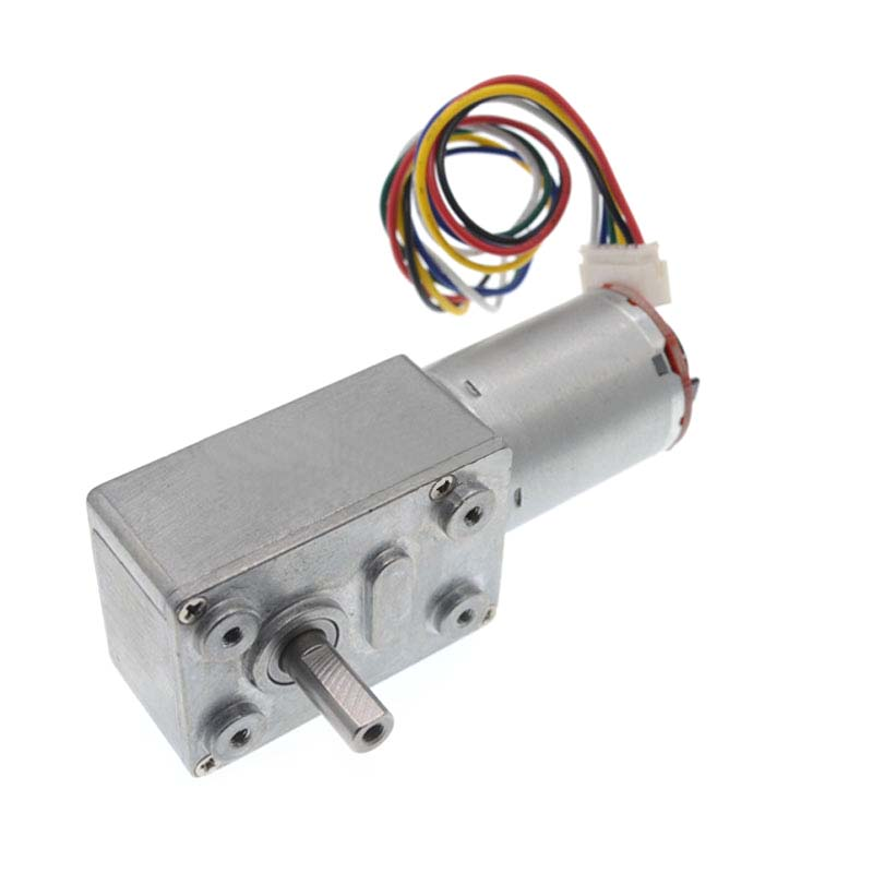 DC6/12/24V Gear Reduction Motor Worm Reducer Motor 6-150RPM Reversible Low Speed High Torque Turbo Geared Motor Electric GearboxDC6/12/24V Gear Reduction Motor Worm Reducer Motor 6-150RPM Reversible Low Speed High Torque Turbo Geared Motor Electric Gearbox
