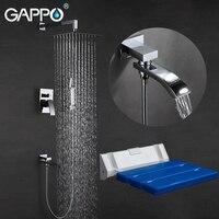 GAPPO Duscharmatur badewanne wasserhähne bad wasserhahn mischer Wand Dusche Sitze Bath bench Dusche System|Duschsystem|Heimwerkerbedarf -