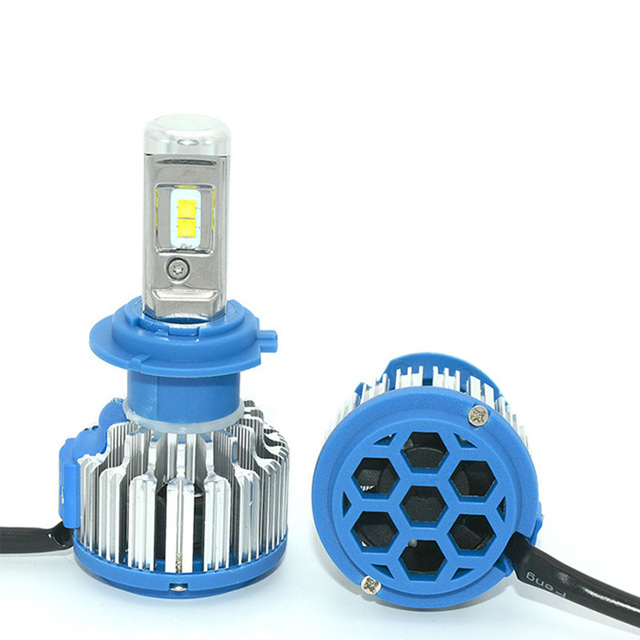 2 PCS T1 Series 70W 7200LM 6000K H4 H1 H3 Turbo LED Car Headlight H7 H11 880/881 9005 HB3 9006 HB4 9007 HB5 Light Bulb