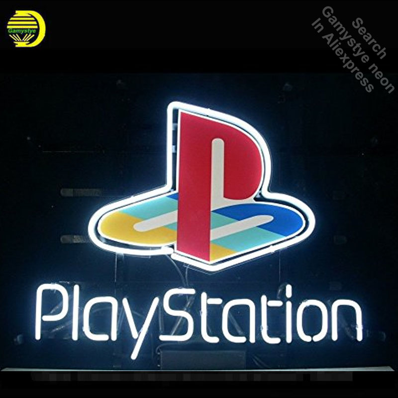 Play Station Game Room Neon Sign Neon Bulb Sign Glass Tube Neon Lights Recreation Professiona Iconic Sign Advertise Windows Wall