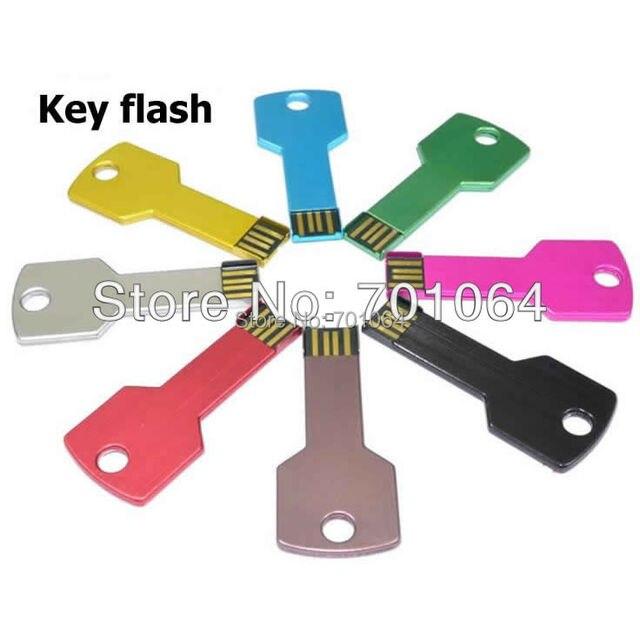 Free DHL: 100pcs 16GB 8GB  cheapest USB flash drive key shape usb flash drive with logo pendrive