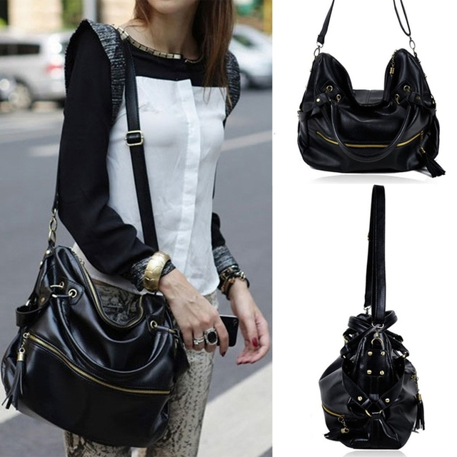 NEW Arrival Black/Brown Women Ladies Big Bags Totes Fashion Casual ...