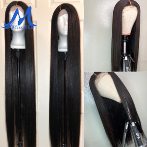 Image 5 - Missblue 30 32 34 36 38 40 inch Lace Front Human Hair Wigs For Black Women Brazilian Remy 360 Lace Frontal Wig With Baby Hair