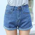 2016 High Waist Denim Shorts Plus Size XS 4XL Female Short Jeans for Women 2016 Summer Ladies Hot Shorts