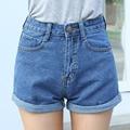 2016 High Waist Denim Shorts Plus Size XS 4XL Female Short Jeans for Women 2016 Summer Ladies Hot Shorts